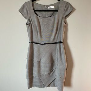 Calvin Klein Grey Sheath Dress